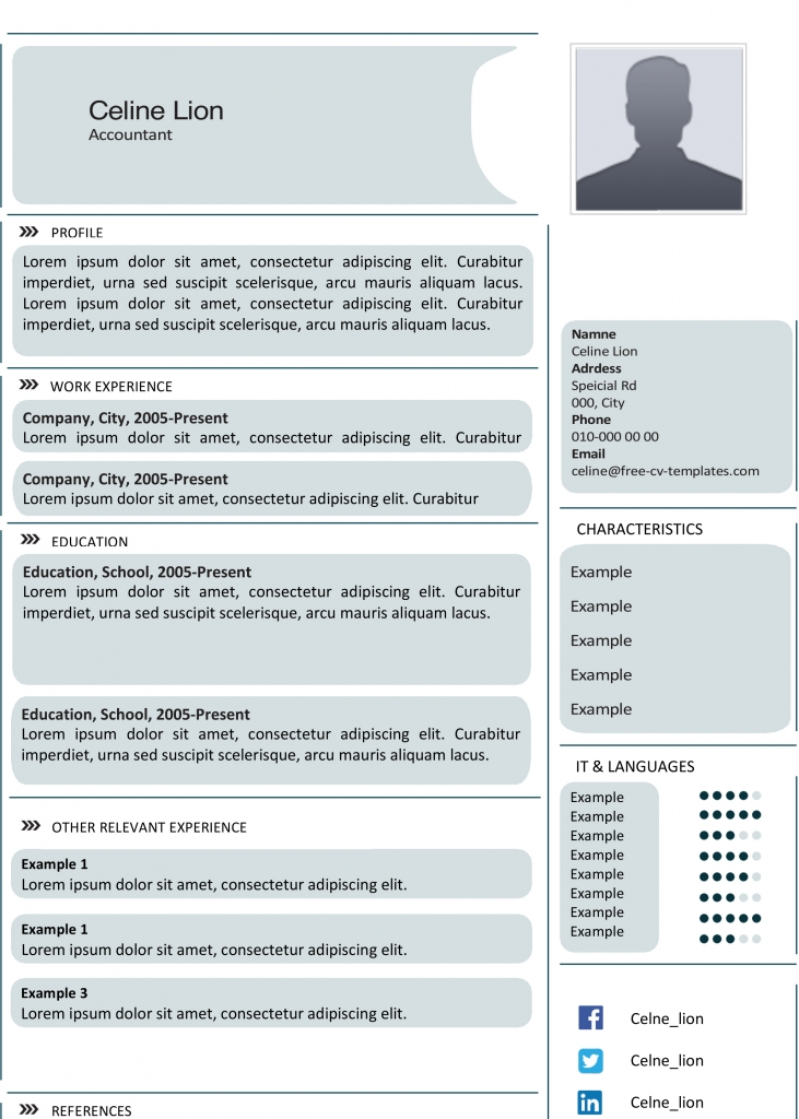 Creative CV templates   Land the