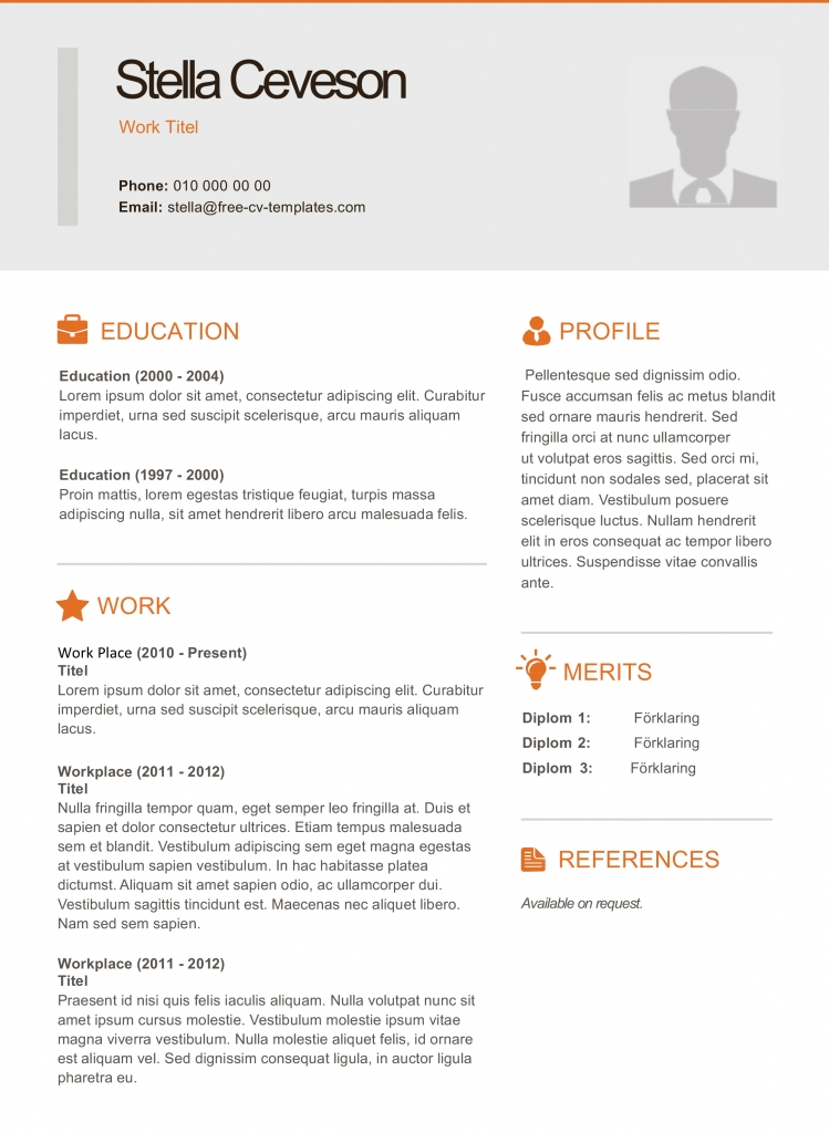 modern cv and resume templates
