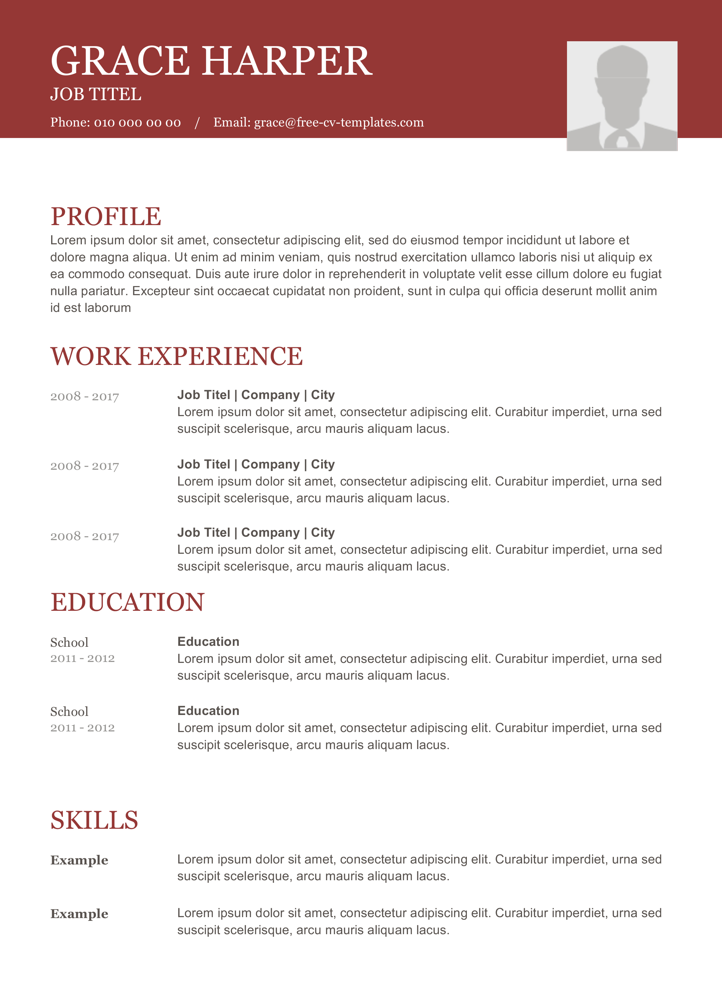 free cv templates number 1 site for free cv s and resumes