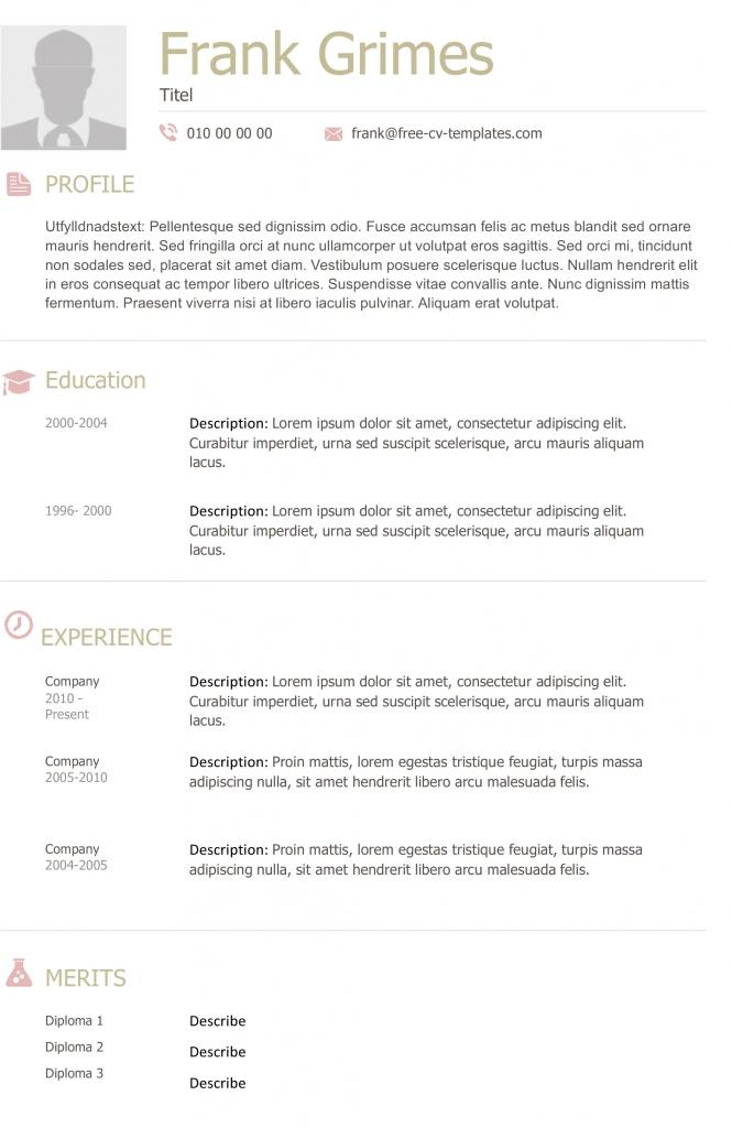 Modern CV And Resume Templates