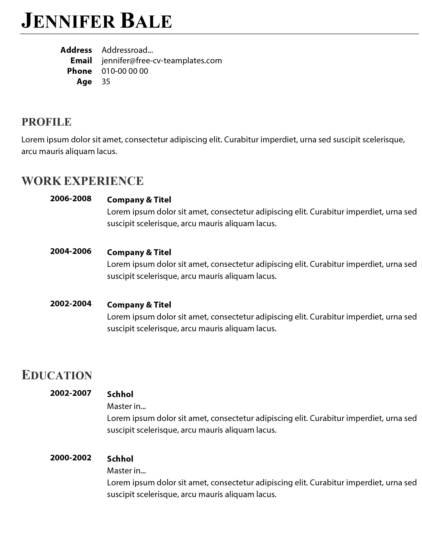 Simple CV