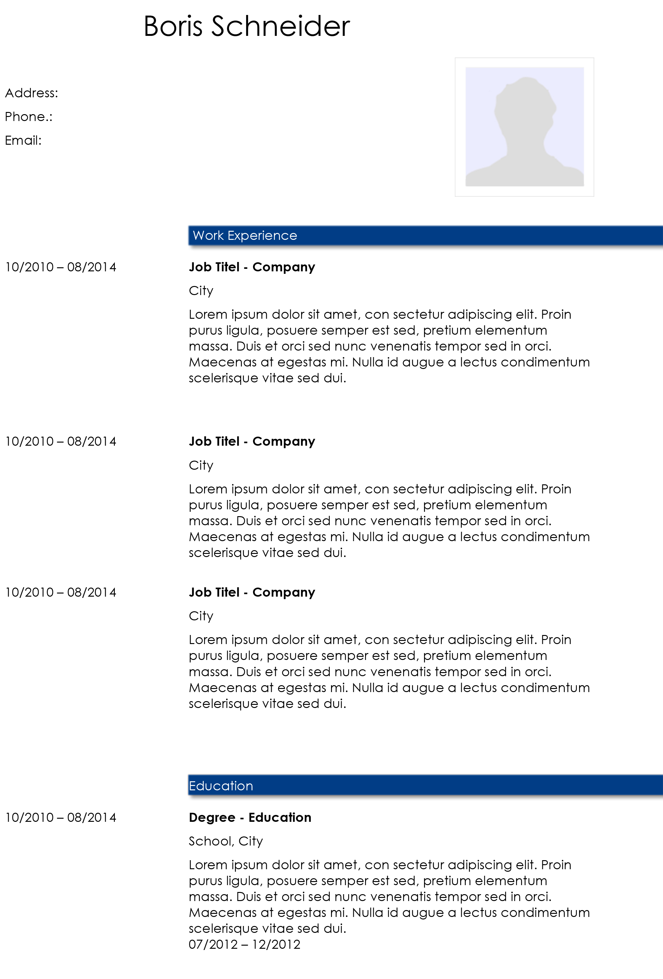 Academic Cv Template: Download This Word-template For Free
