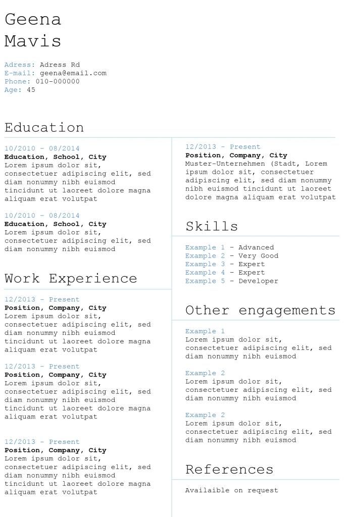 beautiful resume templates creative cv templates land the with our free word 20573 | Boxed Skills 687x1024