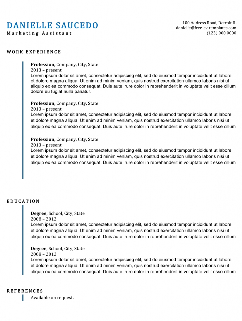 traditional cv templates