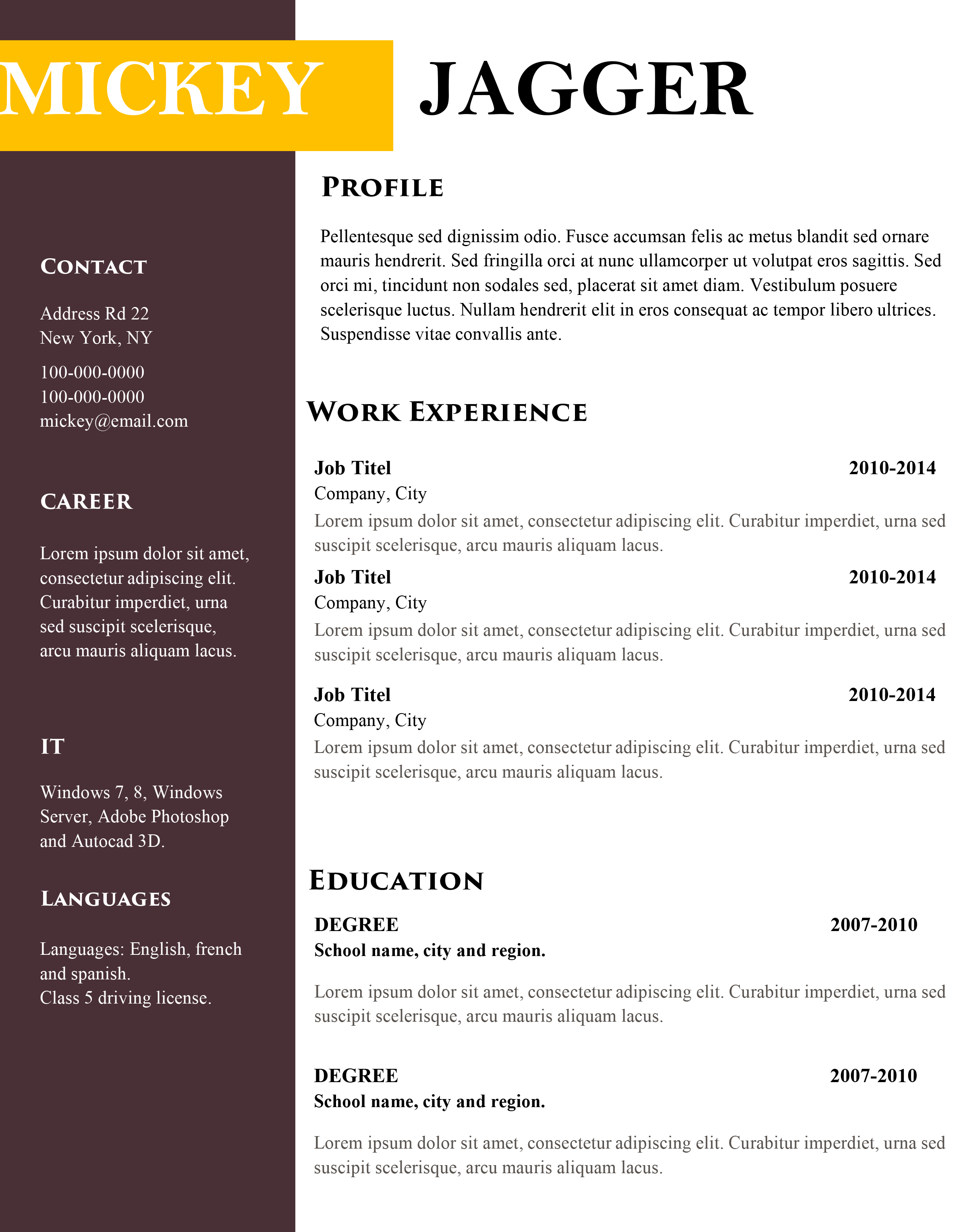 Free Modern Cv And Resume Templates Land The Job With Our Templates
