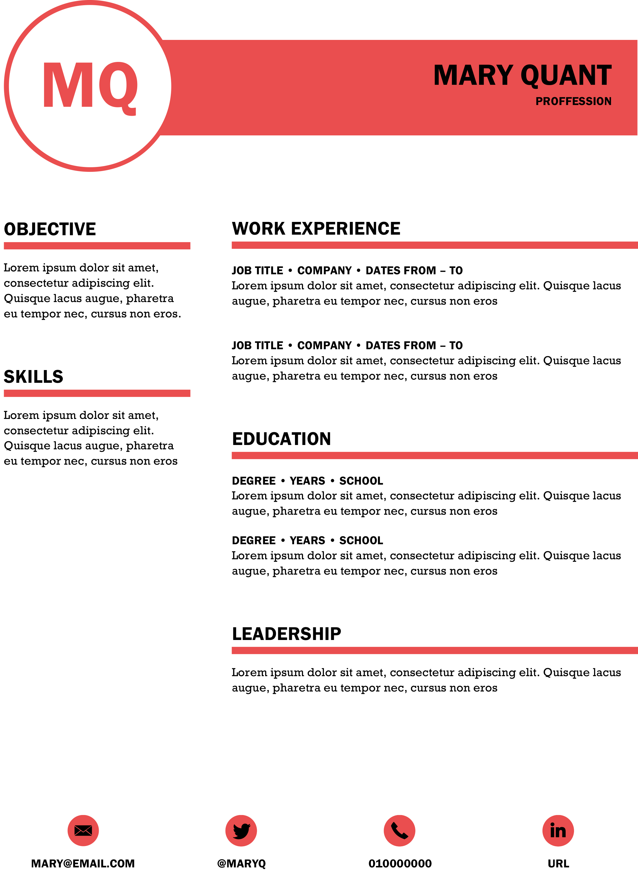Free Dynamic CV Templates   Land the job with our Word