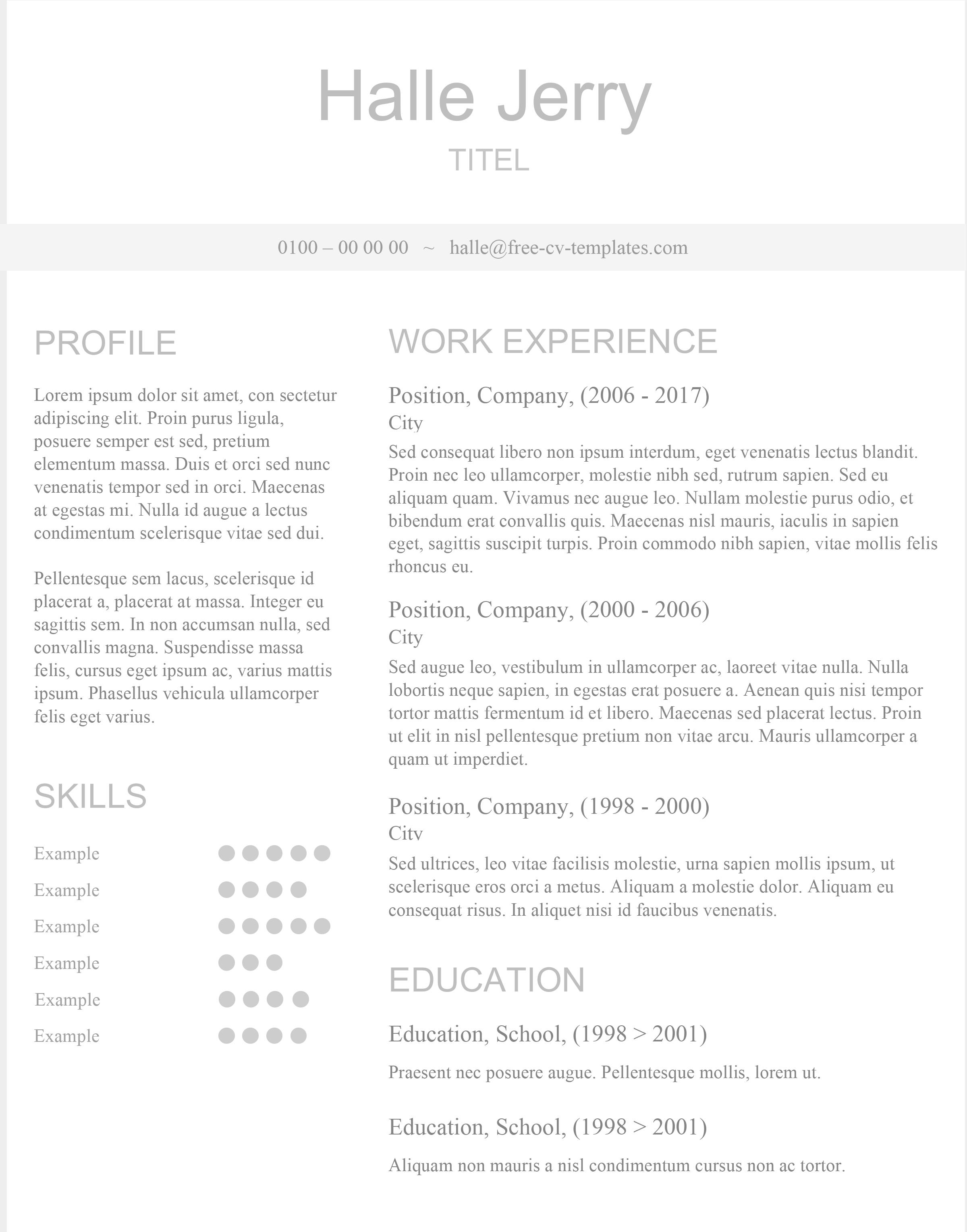 Skilled   Wonderful resume template