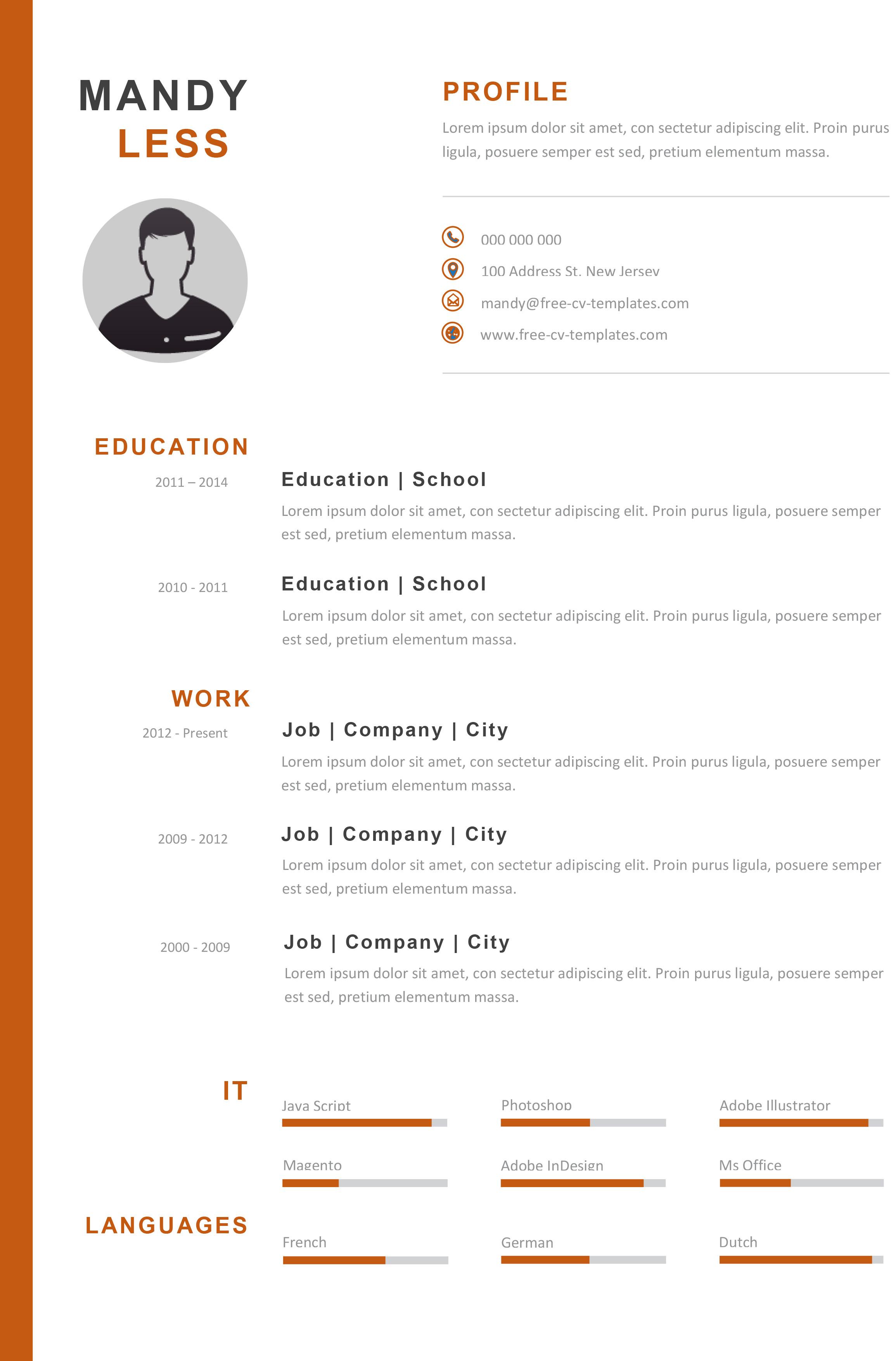 Free Creative CV template