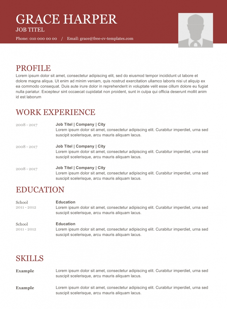 CV Format download free